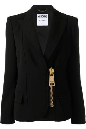 Moschino Zipped fitted blazer