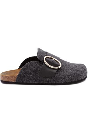 J.W.Anderson Felt loafer mules - Grey