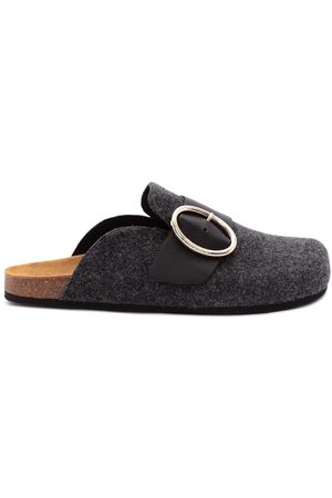 J.W.Anderson Felt loafer mules - Grey