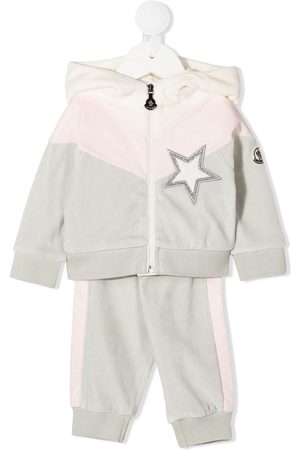 Moncler Tracksuits - Embroidered star track suit - Grey