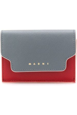 Marni Colour block logo print tri-fold wallet - Grey
