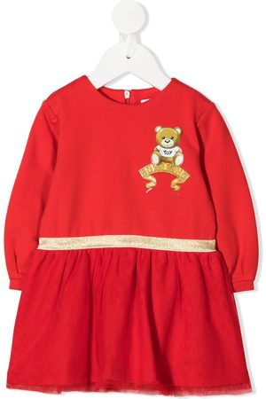 Moschino Kids Baby Casual Dresses - Embroidered logo sweater dress
