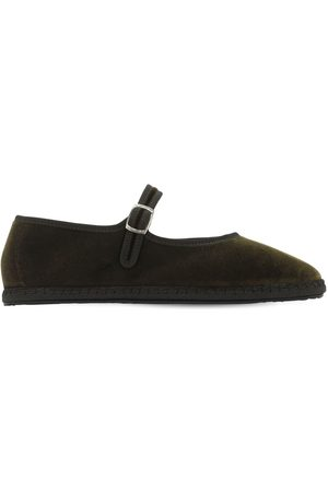 VIBI VENEZIA 10mm Mary Jane Velvet Loafers
