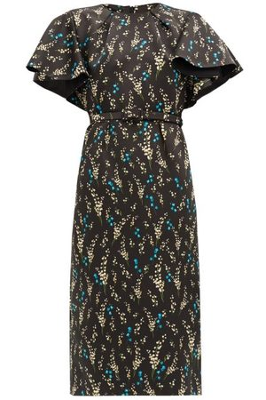 Erdem Gaia Willow Ditsy-print Silk Dress - Womens