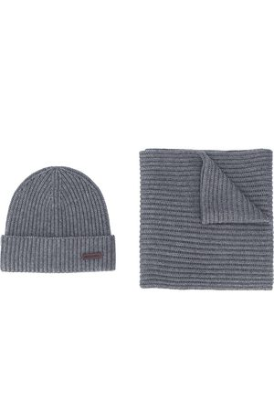 Dsquared2 Knitted beanie and scarf set - Grey
