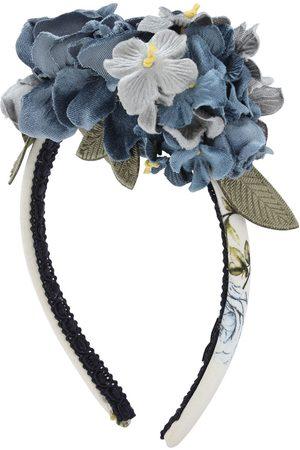 MONNALISA Velvet Flowers Headband