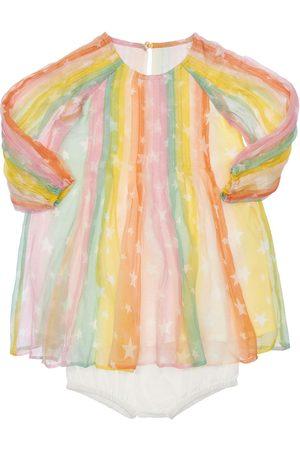 Stella McCartney Silk Crepe Dress & Cotton Diaper Cover
