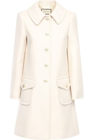 Gucci Women Coats - Gg Wool Coat