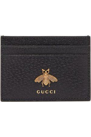 Gucci Bee-embellished Leather Cardholder - Mens