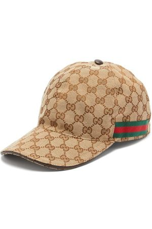 Gucci Men Caps - Web-stripe Gg-logo Baseball Cap - Mens