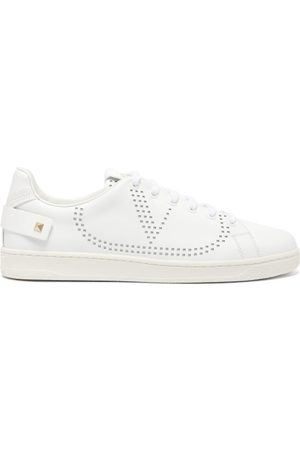 VALENTINO GARAVANI Women Sneakers - Perforated-logo Leather Trainers - Womens