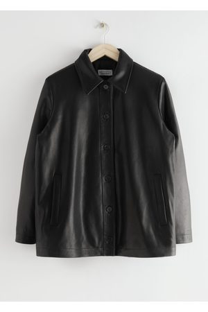 & OTHER STORIES Padded Leather Jacket