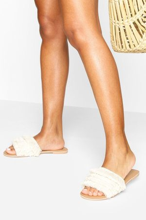 Boohoo Womens Tassel Detail Sliders - - 5