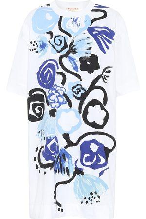 Marni Floral cotton T-shirt minidress