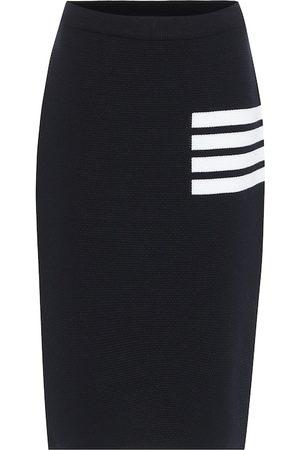 Thom Browne Wool-blend midi skirt