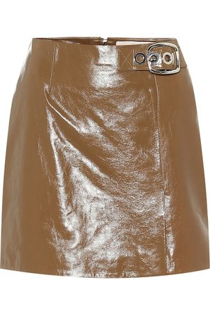 AlexaChung Women Mini Skirts - Leather miniskirt