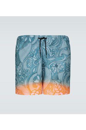 DRIES VAN NOTEN Dip-dye printed swim shorts