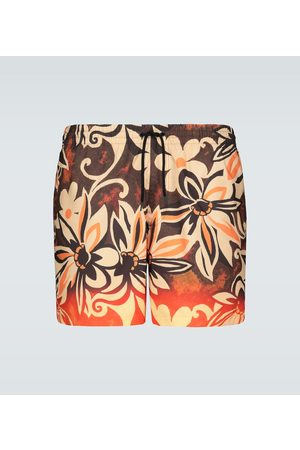 DRIES VAN NOTEN Floral printed swim shorts