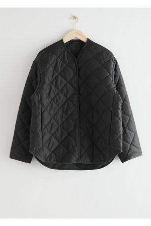 & OTHER STORIES Double Breasted Quilted Jacket