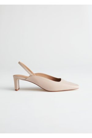 & OTHER STORIES Square Toe Leather Mules