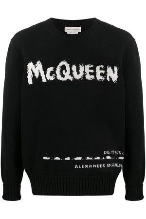Alexander McQueen Logo-intarsia crew-neck jumper