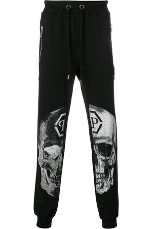 Philipp Plein Men Sweatpants - Embellished skull track pants