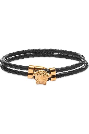 VERSACE Leather Medusa Bracelet