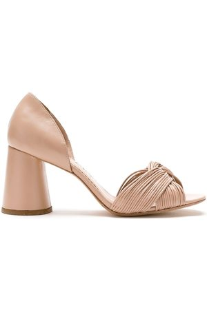 Sarah Chofakian Women Sandals - Colagem leather sandals - Neutrals