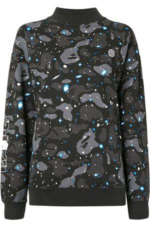 A BATHING APE® Mock-neck camouflage sweatshirt
