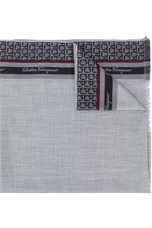 Salvatore Ferragamo Gancini print scarf - Grey