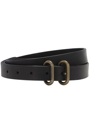 Dsquared2 2cm Double Buckle Reversed Leather Belt