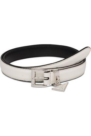 Prada Hanging logo charm belt