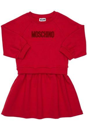 Moschino Cotton Sweat Dress W/ Logo