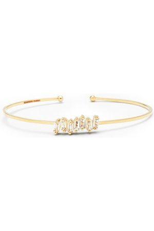 Suzanne Kalan White Topaz & 14kt Cuff Bracelet - Womens