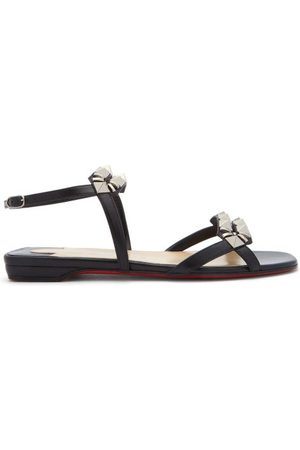 Christian Louboutin Galerietta Studded Leather Sandals - Womens