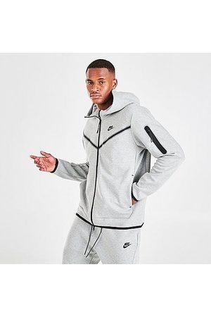 Nike Sportswear Tech Fleece Taped Full-Zip Hoodie in Grey/Dark Grey Heather Size 2X-Large Cotton/Polyester/Fleece