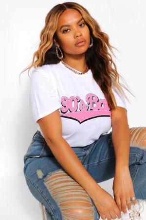 Boohoo Womens Plus 90'S Baby T-Shirt - - 20