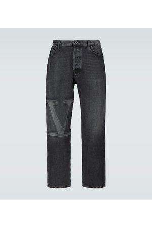 VALENTINO VLTN straight-fit denim jeans