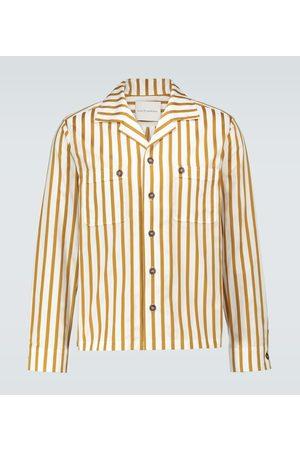 King and Tuckfield Camp-collar long-sleeved shirt