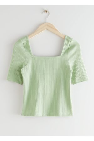 & OTHER STORIES Fitted Square Neck Top
