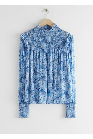 & OTHER STORIES Smocked A-Line Blouse