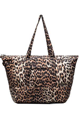 Ganni Leopard-print shoulder bag