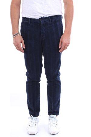 MICHAEL COAL Men Chinos - Chino Men Navy cotton and elastane