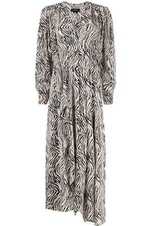 Isabel Marant Zebra-print dress - Neutrals