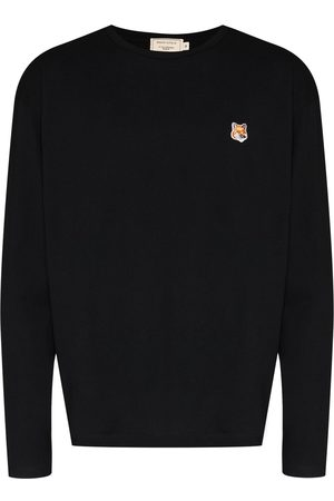 Maison Kitsuné Logo-patch long-sleeve T-shirt