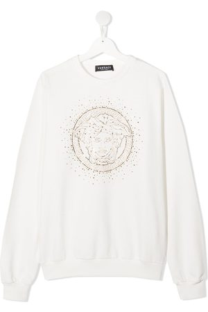 VERSACE Hoodies - Embellished Medusa sweatshirt