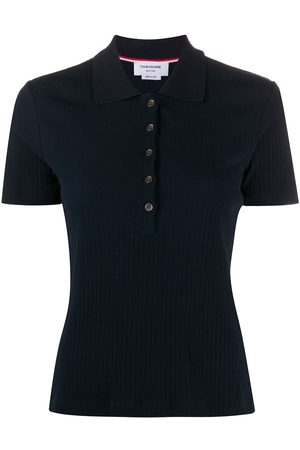 Thom Browne Short sleeve polo in high twisted rib