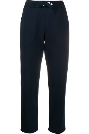 Thom Browne Straight leg sweatpants in compact double knit cotton with 4-bar twill drawcord