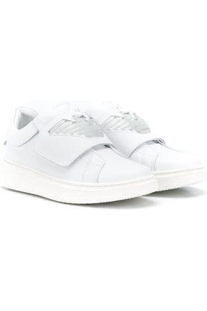 Emporio Armani Eagle-print touch-strao sneakers