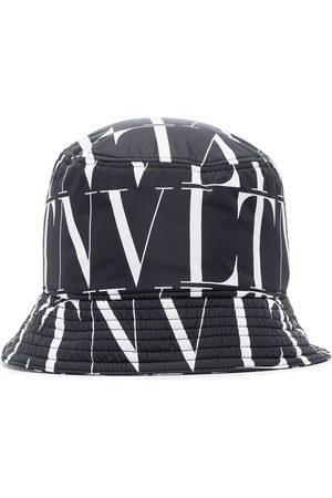VALENTINO VLTN logo pattern bucket hat